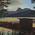 Morning At Lake Mcdonald Glacier Park by Frank Hunter