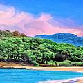 Morning At Papohaku Beach  by Dominic Piperata