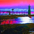 Morning At The Algoma Light An Abstract by Janice Adomeit