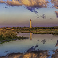 Morning Clouds At Cape May Light by Nick Zelinsky