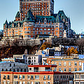 Morning Dawns Over The Chateau Frontenac by Bill Lindsay