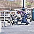 Morning Exercise On The Boardwalk by Crystal Harman