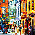 Morning Gossip - Palette Knife Oil Painting On Canvas By Leonid Afremov by Leonid Afremov
