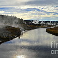 Morning In Upper Geyser Basin In Yellowstone National Park by Catherine Sherman
