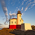 Morning Light At Coquille River Lighthouse by Patricia Davidson