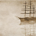 Morning Mist In Sepia by John Edwards