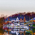 Morning On Boathouse Row by Bill Cannon