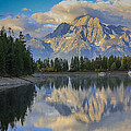 Morning On Colter Bay by Michael Schwartz