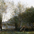 Morning On The Estuary. Ville D Avray by Jean-Baptiste-Camille Corot