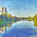 Towers On The Olentangy. The Ohio State University by Digital Photographic Arts
