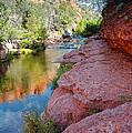Morning Sun On Oak Creek - Slide Rock State Park Sedona Arizona by Silvio Ligutti