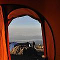 Morning View At The  Karanga Valley In 4000 Meters At Mount Kilimanjaro In Tanzania by Elke Christina Lackner