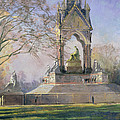 Morning Visitors To The Albert Memorial Oil On Canvas by Bob Brown