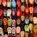 Moroccan Babouches Old Medina Marrakesh Morocco by Ralph A  Ledergerber-Photography