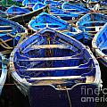 Moroccan Blue Fishing Boats by Deborah Benbrook