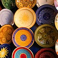 Moroccan Pottery On Display For Sale by Ralph A  Ledergerber-Photography