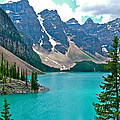 Morraine Lake In Banff Np-alberta by Ruth Hager
