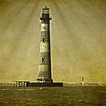 Morris Island Light Vintage Bw Uncropped by E Karl Braun