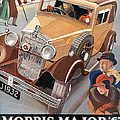 Morris Major 6 - Vintage Car Poster by World Art Prints And Designs