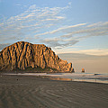 Morro Rock At Dawn by Mike Herdering