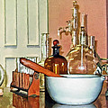 Mortar And Pestle In Perfume Shop by Susan Savad