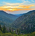 Mortons Overlook Smoky Mountain Sunset by Frozen in Time Fine Art Photography