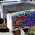 Mosaic Mailbox On The Turquoise Trail In New Mexico by Catherine Sherman