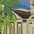 Mosaic Of Church With Palm Tree by Imran Ahmed