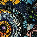 Mosaic Pattern On Wall by Alex Grichenko