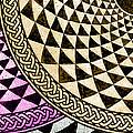Mosaic Quarter Circle Bottom Left  by Tony Rubino