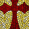 Mosaic Red Cross by Cynthia Amaral