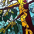 Mosaic Stained Glass - First Tree by Catherine Van Der Woerd