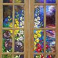 Mosaic Stained Glass - Flower Garden by Catherine Van Der Woerd