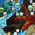 Mosaic Stained Glass - Low Tide by Catherine Van Der Woerd