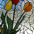 Mosaic Stained Glass - Spring Shower by Catherine Van Der Woerd
