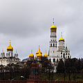 Moscow Kremlin Cathedrals - Square by Alexander Senin
