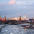 Moscow Kremlin In Winter Evening - Featured 3 by Alexander Senin