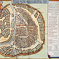 Moscow: Map, 1662 by Granger