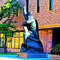 Moses Statue At The Main Library by Tina M Wenger
