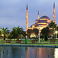 Mosque Lit Up At Dusk, Blue Mosque by Panoramic Images
