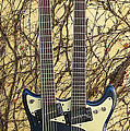 Mosrite Joe Maphis Double-neck Guitar  by Phyllis Tarlow