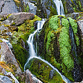 Mossy Waterfall At Snow Lake by Jeff Goulden