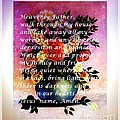 Most Powerful Prayer With Flowers In A Vase by Barbara Griffin