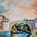 Mostar Bridge by Kovacs Anna Brigitta