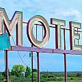 Motel Sign - Arrow by Larry Hunter