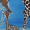 Mother And Baby Giraffe by Jean Fry