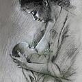 Mother And Baby by Viola El