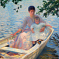 Mother And Child In A Boat by Mountain Dreams