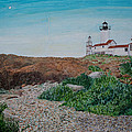 Mother Ann And Eastern Point Light by Laurence Dahlmer