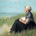Mother In The Dunes by David Adolf Constant Artz